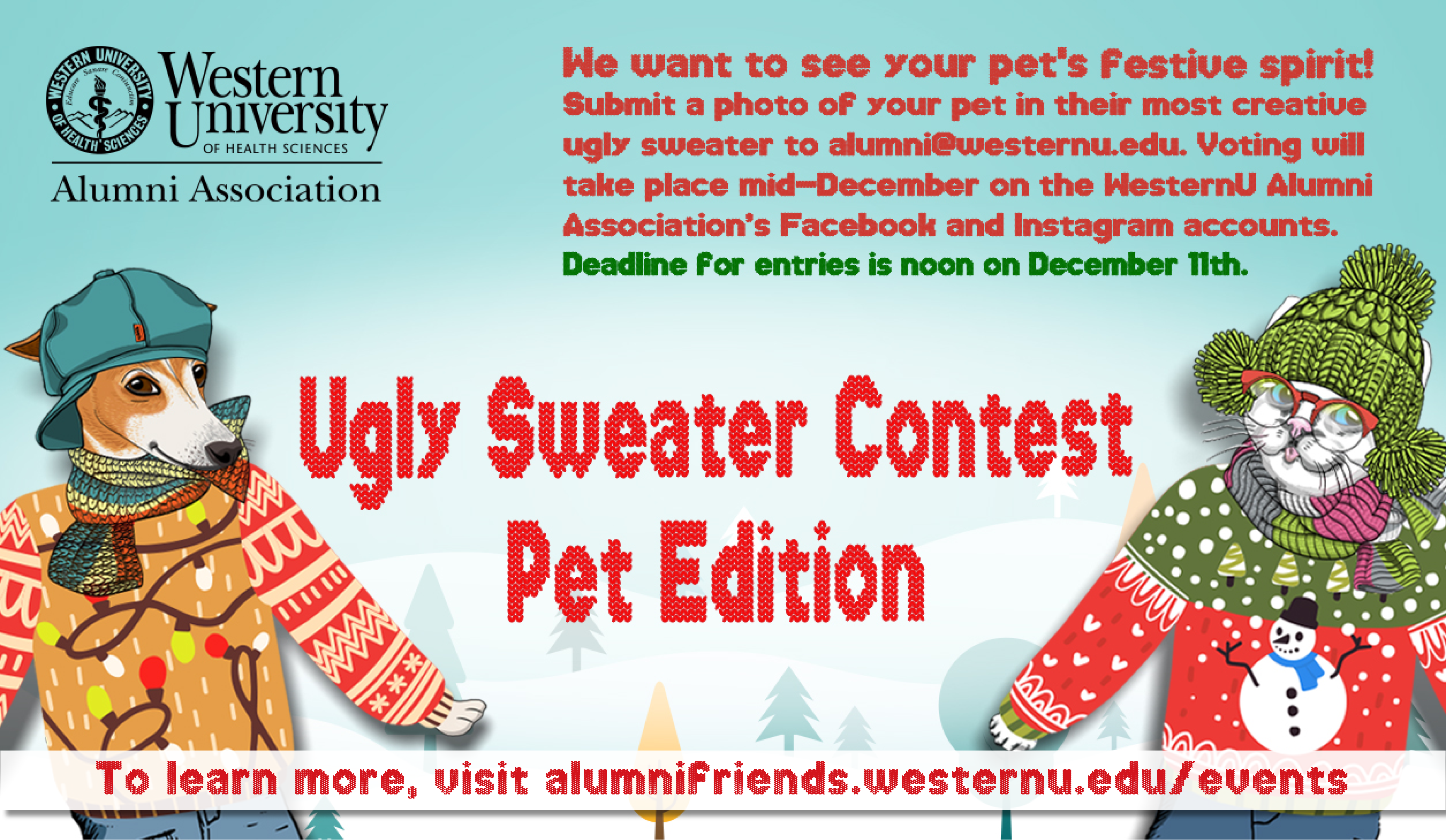 Ugly Sweater Contest Pet Edition Flyer