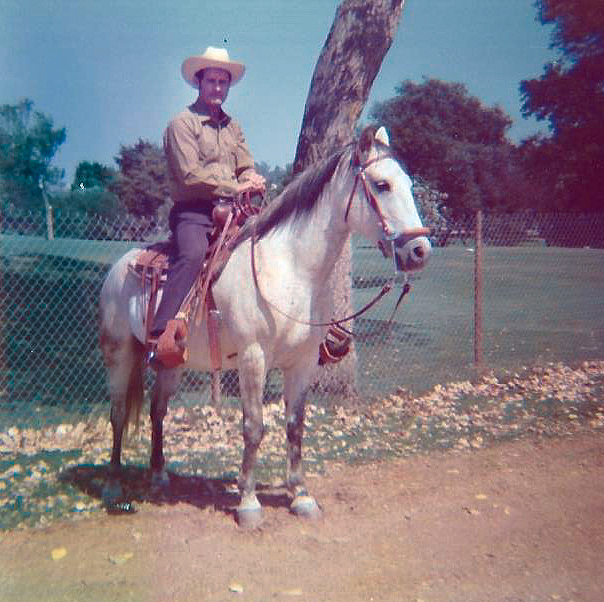 Graves on a horse